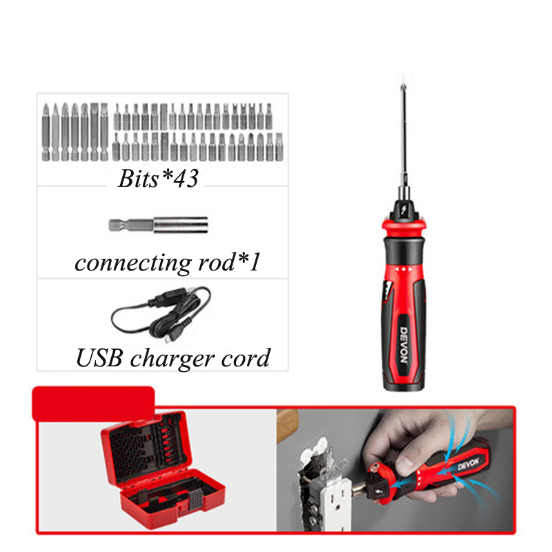 4V Rechargeable Cordless Electric Screwdriver Set Repair Tool Kit Li-Battery Operated Household Tools With 43 Bits 5612-Li-44V Rechargeable Cordless Electric Screwdriver Set Repair Tool Kit Li-Battery Operated Household Tools With 43 Bits 5612-Li-4