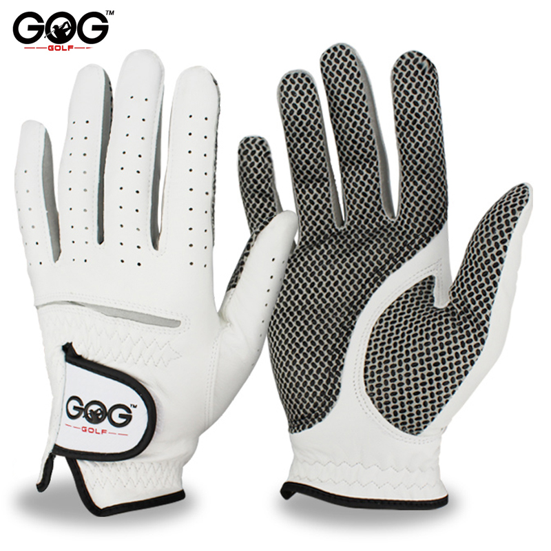 Free Shipping Genuine Leather Golf Gloves Men's Left Right Hand Soft Breathable Pure Sheepskin Golf Gloves Golf accessories(China)