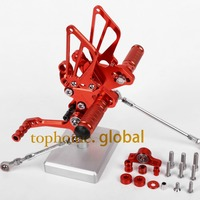CNC Motorcycle Parts Rearsets Foot Pegs Rear Set For DUCATI 848 1098 1098S 1198 1198R Red