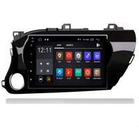 Android 9.0 car radio 2 din for Toyota Hilux 2016 2019 auto DVD on board computer Navigation GPS AUDIO head unit