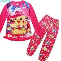 3 10 Years Christmas Pajamas Kids Children Girls Cotton Pyjamas Boys Long Sleeve Cartoon Dog Pajamas