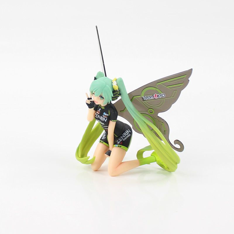 12cm Anime Figures Hatsune Miku Racing Teamukyo Tony Butterfly Miku Toy Action Figure Collectible Model Toy