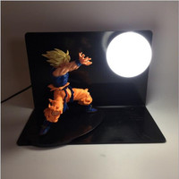 3D Cartoon Model Dragon Ball Figure Goku LED Table Lamp Creative Anime Gift Night Light For Kids Action Figures Model Luminaire