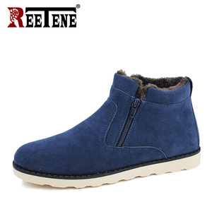 Image 4 - REETENE Winter Boots Men 2018 Warm Snow Boots Men Casual Snow Boots Men Plush Zipper Winter Shoes Men Slip On Fur Male Shoes