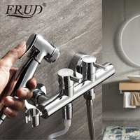 Frud Bidet Faucet Wall Mounted Chrome Toilet Cleaning Spray Shower Bidet Cleaner Anal Wash Faucet Contemporary Bidet Shower