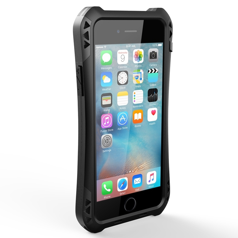 For iPhone 6 Case Oittm Armor Case Back Cover Waterproof Shockproof Dustproof Cover Aluminum Protection Case