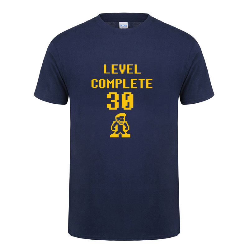 30 Years Old Level Complete T Shirt Funny Birthday Gift For Men Husband Boyfriend Summer Short Sleeve O Neck Cotton In Shirts From Mens