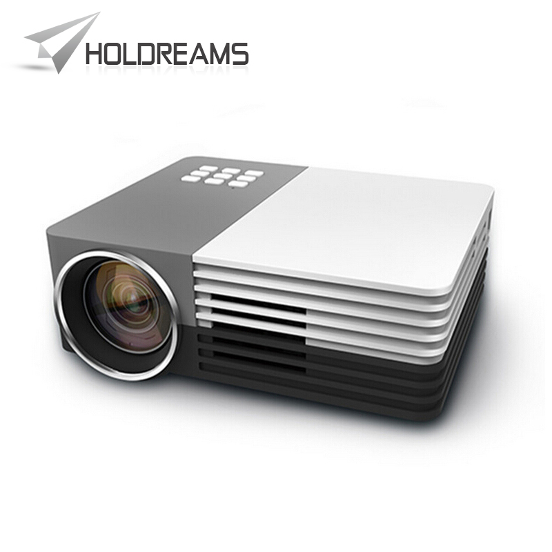 GM50 Mini Portable LED Projector Video Theater Home Projector SD/HDMI/VGA/AV/USB + HDMI Cable Audio Cable Gamepad 3D Projector