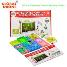 GLOBAL DRONE 120 ProjectsDIY Kits Integrated circuit building blocks snap circuit kit FM Radio experiments kids model kits Scien