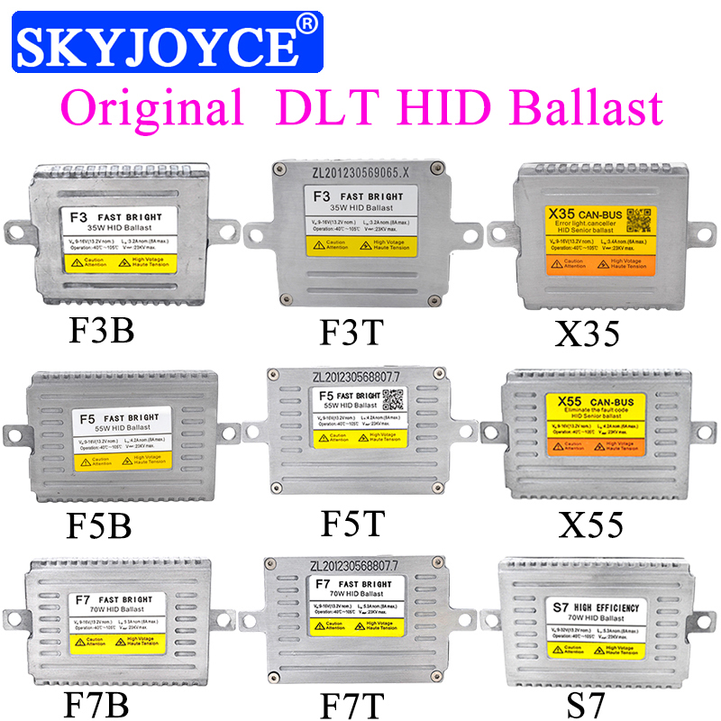 AC 12V 24V 35W 55W 70W DLT HID Ballast F3 F5 Fast Bright X35 X55 Canbus