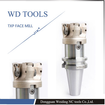 TXP100-31.75-6T TXP milling cutter high feedrate boring face head milling cutters TXP WPMW08 100mm round down face mill