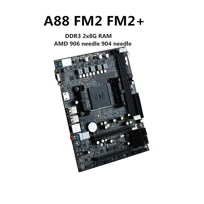 Nouvelle carte mère de bureau A88 FM2 + Support de carte mère de bureau DDR3 16G support 7650 K VGA HDMI SATA3.0