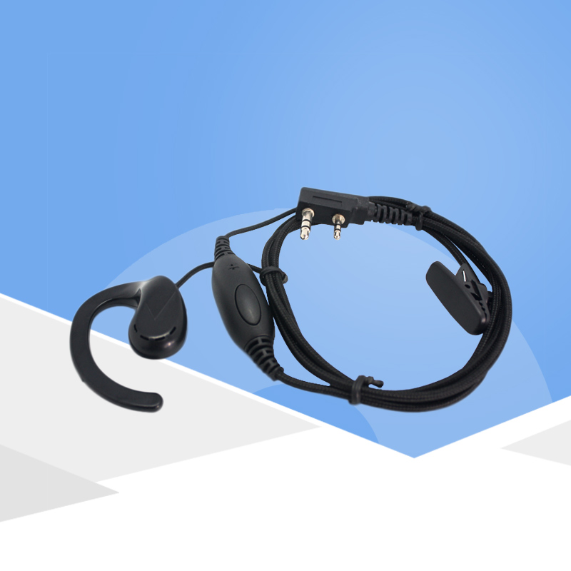 KSUN Walkie-Talkie Headset B15 Headset Thick Line Thick Braided Wire PPS Material Two Way Radio Ear-Hook Headphones
