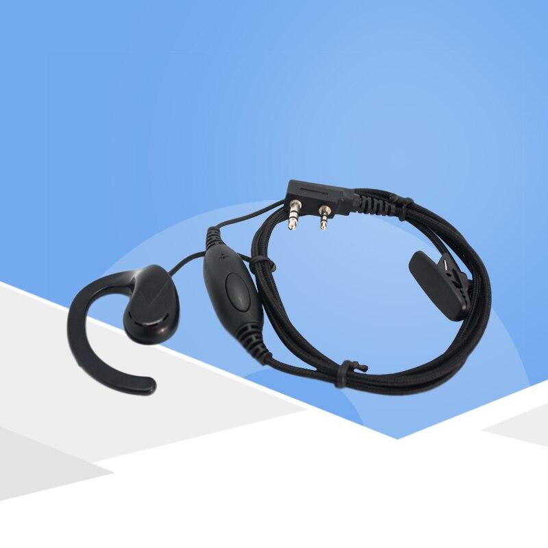 KSUN talkie-walkie casque B15 casque ligne épaisse épais tressé fil PPS matériau deux way radio oreille-crochet casque