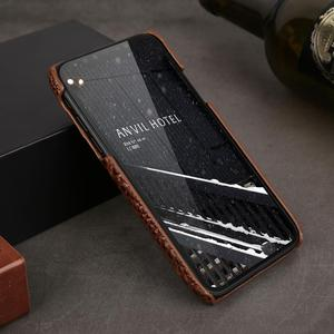 Image 3 - Véritable Étui En Cuir Pour iPhone 12 11 Pro XS MAX 12 Mini 12 MINI 12Pro 11Pro X XR SE 2020 6 S 6 S 7 8 Plus Étui 3D Croc couvre chef