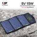 Allpowers 5 v 15 w cargador solar plegable panel solar portable del teléfono/tablet/cargador de batería para iphone sumsung htc blackberry ipad