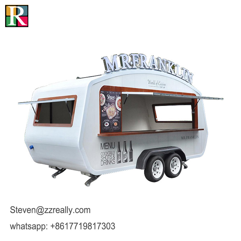 RL-F45T Mobile Food Trailer Pizza Food Truck Food Cart For Sale Europe