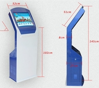 WIFI Touch self service payment terminal atm kiosk with thermal printer