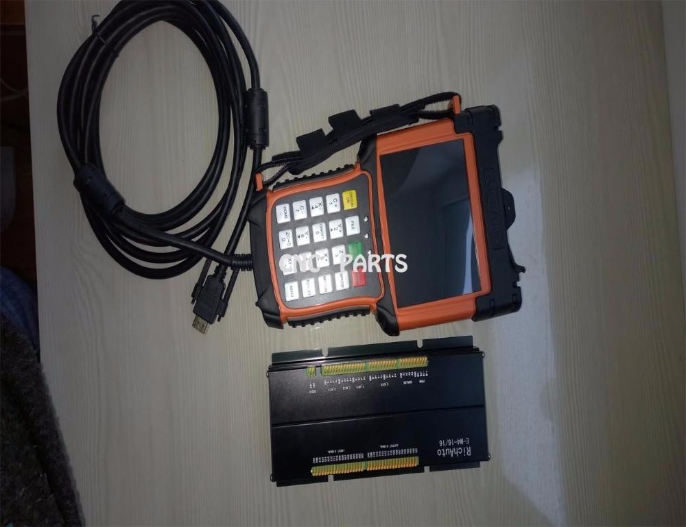 """3 ašių """"cnc"""" judesio valdymo sistema DSP A51 """"Richauto"""" prekės ženklo spalvotas ekranas"""