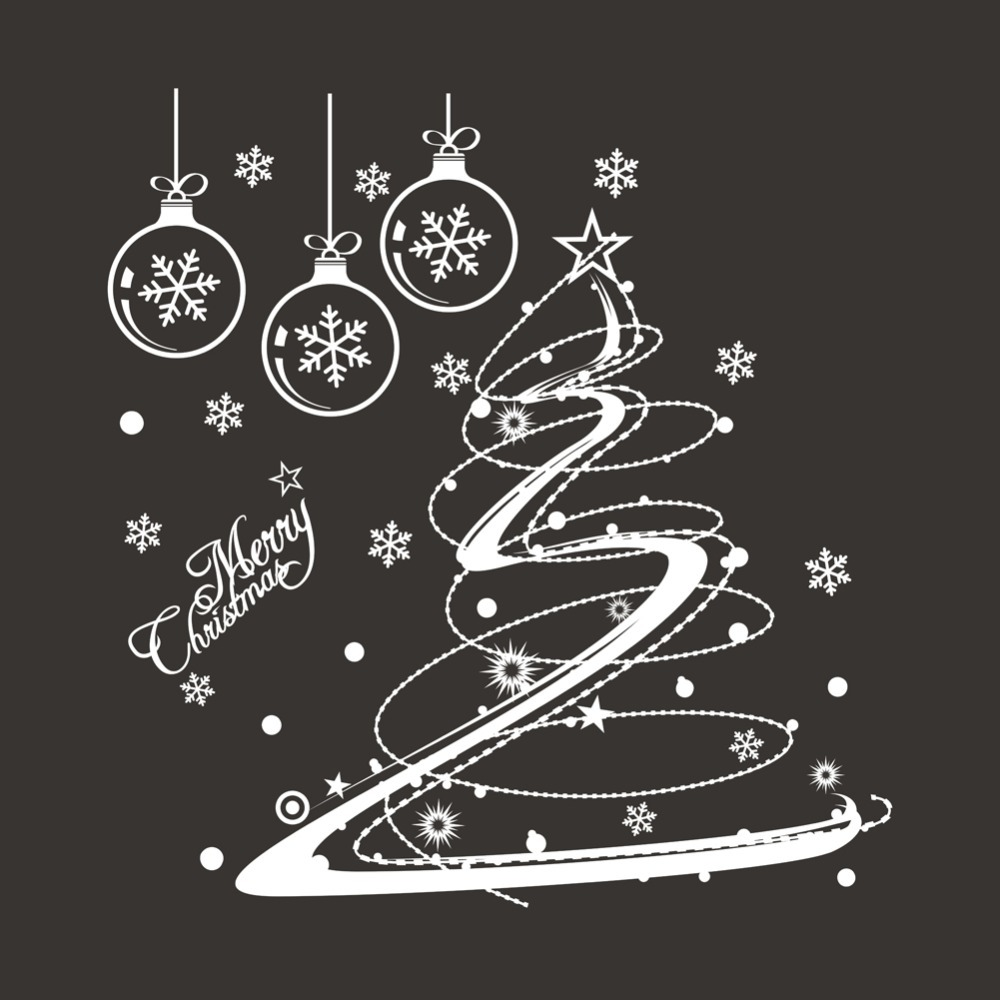 aliexpresscom buy christmas decal flowers christmas decorations shop window home window decal xmas10 from reliable decals honda suppliers on etop store - Christmas Decals For Glass
