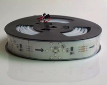 5m DC24V TM1809 400LEDs (8pixes/m;10leds as one pixel) WHITE PCB led digital strip;IP66;waterproof in silicon tube