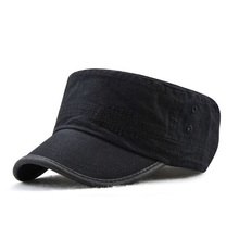 цена на Korean Fashion Bordure Classic Flat Baseball Cap Spring Summer Brand Snapback Cotton Hats For Women And Men Army Cap Casquette