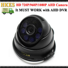 HKES 6pcs IR Leds Security Systems Survelliance Camera 1080P AHD Wide Angle Lens 3.6mm Indoor