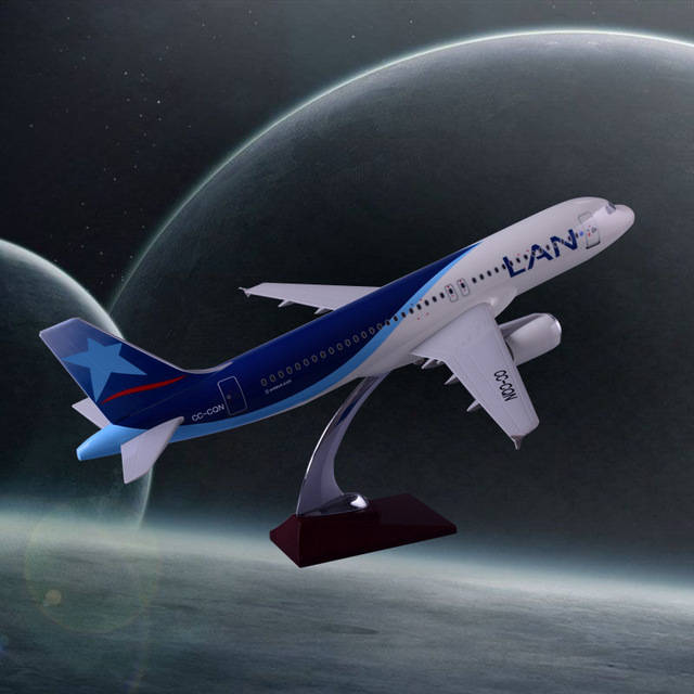 47cm A320 Resin Chile Airlines Aircraft Model LAN Airbus Airplane Model International Aviation Plane Model Travel Collection