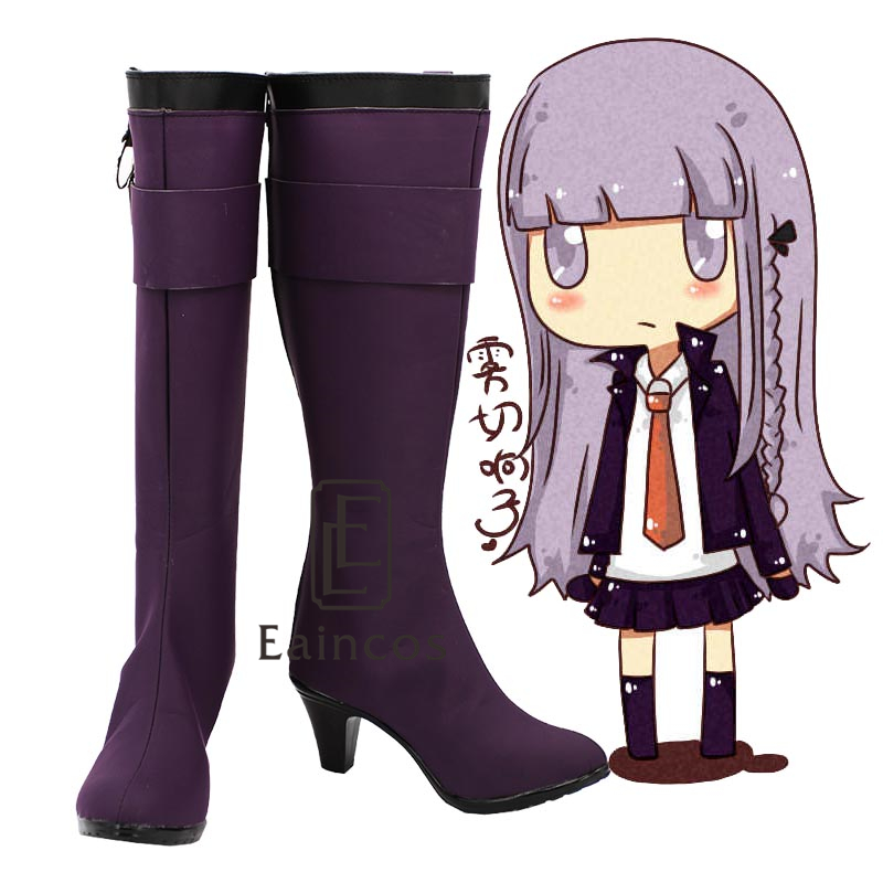 Anime Danganronpa Kirigiri Kyouko Cosplay Shoes Purple Boots Custom Made