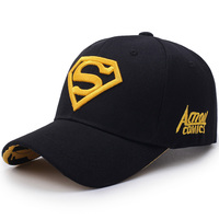 Superman Hat Embroidery S Diamond Cap New Black Snapback Man Polyester Fabric Baseball Caps Spring Summer Women Dress Hats Dad