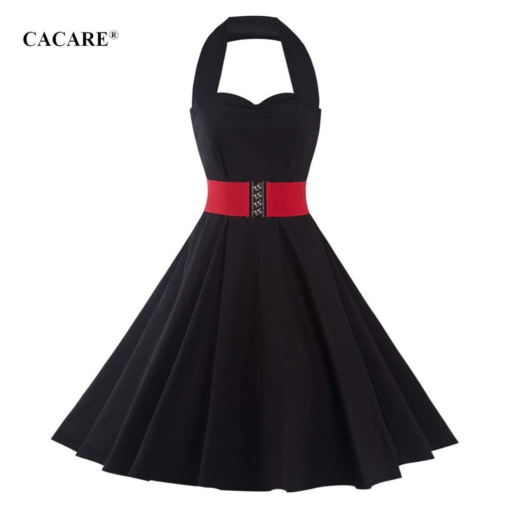 d50c99498b 1950 Retro elegante mujer vestido Midi vestido 60 s una línea vestido de  Audrey Hepburn vestidos Vintage 2 opciones F2960 Halter - a.spelacasino.me