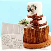 Succulents Tree Bark Silicone Mold Fondant Mould Cake Decorating Tools Chocolate Gumpaste Mold Sugarcraft Kitchen Gadgets