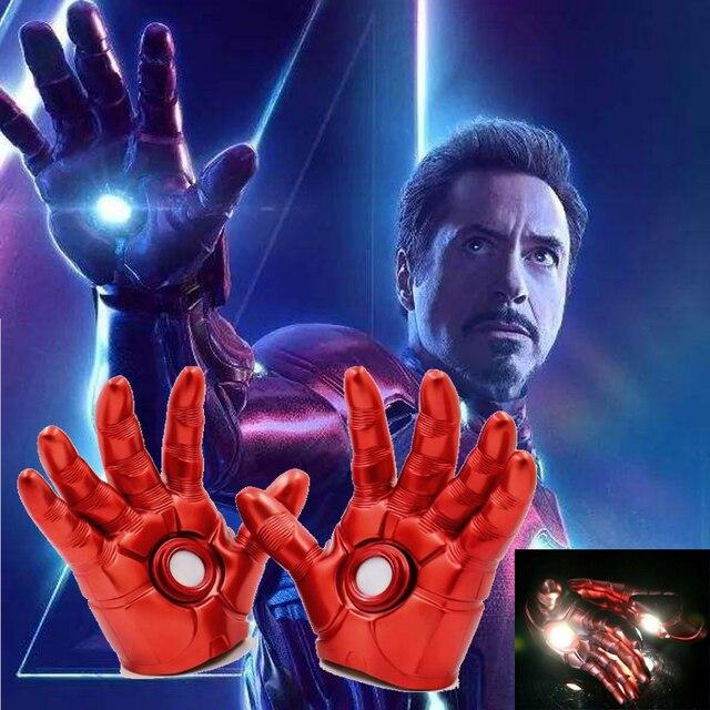 Endgame 4 vingadores Homem De Ferro Luva Super Herói Homem De Ferro Mark 3 Luvas com Luz LED Ação PVC Figura de Brinquedo Adulto prop criança Presentes