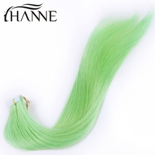 7A remy Brazilian virgin hair tape in extensions 20pc 20″ 24″ green HANNE human hair tape in brazilian tape extensions skin weft