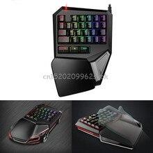 T9 Plus 29 Keys Programmable Mechanical One/Single Hand USB Wired LOL DOTA 2 Esport Gaming Keyboard RGB LED Backlit light #H029#