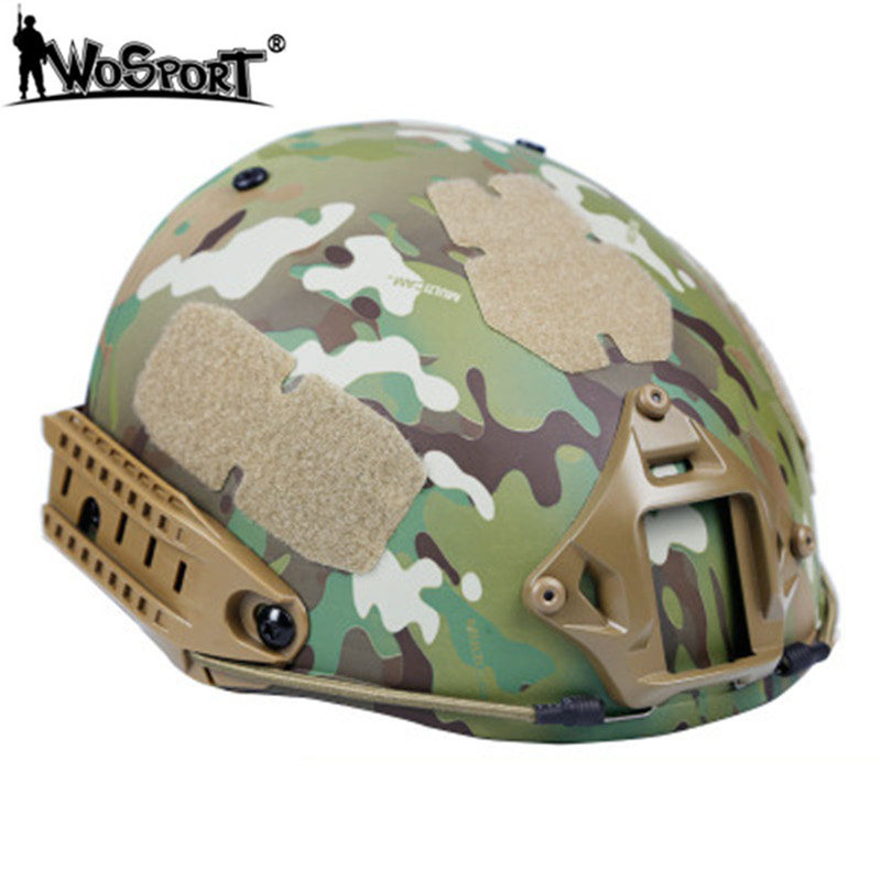 WoSoprT AF Combo Tactical Helmets Materials Cs Military Tactical Outdoor Hunting Shooting Paintball Gear Big Vision Fast Helmets