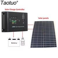 12V 20W Polycrystalline Saving Semi Flexible Solar Panels 12V 24V 10A 5V DC Top Solar Panel