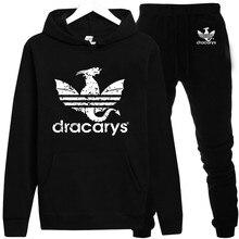 Dracarys спортивные игры для взрослых унисекс бренд с капюшоном спортивной одежды в стиле Harajuku