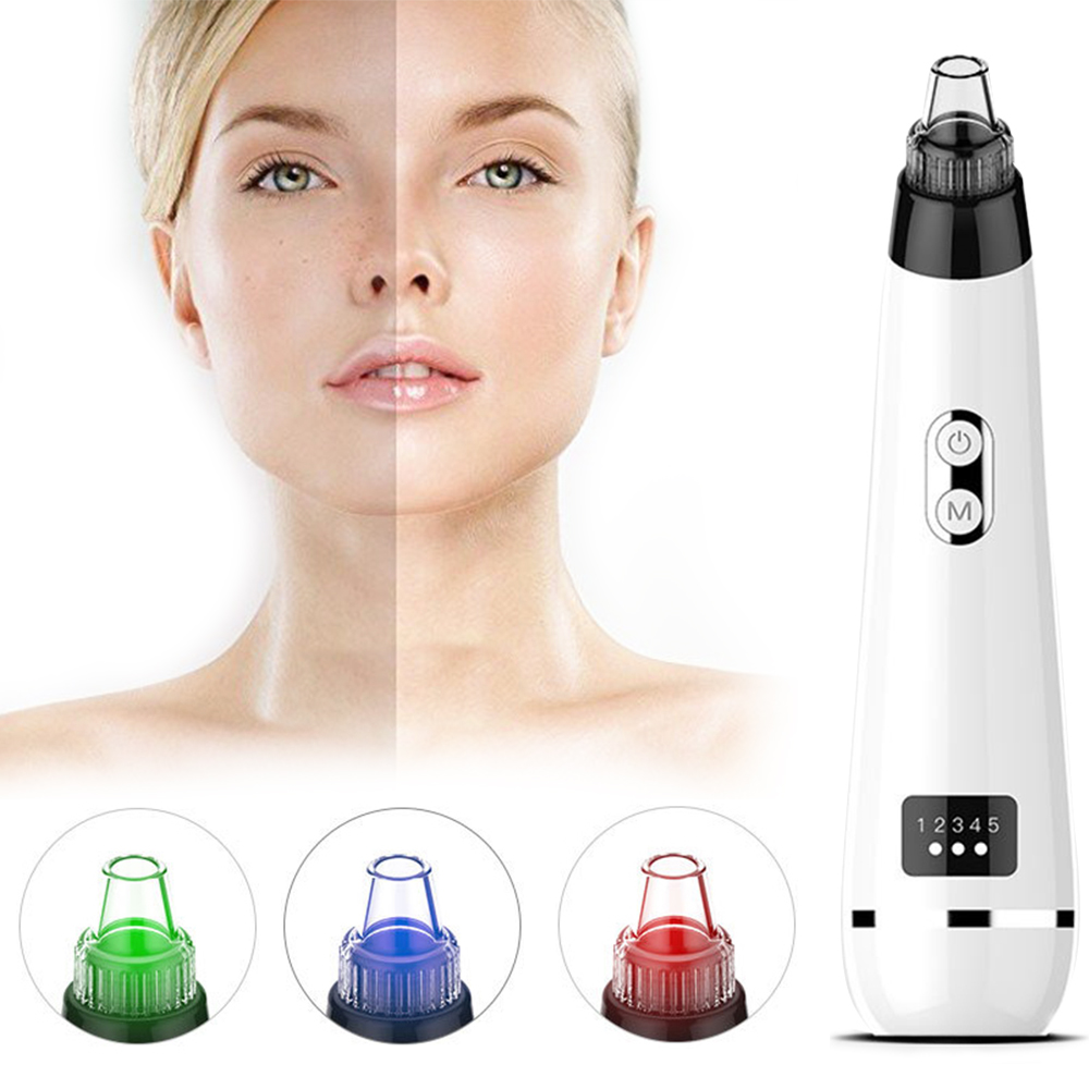 Electric Black Dots Remover Acne Extractor Point Noir Blackhead Vacuum Remover LCD Pore Cleaner Black Spots Extractor Skin Care