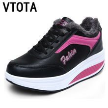 VTOTA Fashion Trainers Sneakers Warm Winter Women Casual Shoes Gils Wedges Platform Shoes Tenis Feminino Zapatos Mujer H205 ulzzang harajuku trainers women casual shoes air mesh grils wedges shoes woman tenis feminino zapatos mujer ladies footwear