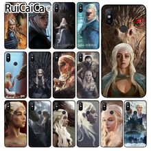 Ruicaica Game of Thrones Mother Dragons Pattern Phone Cell Case for Xiaomi Mi Note 3 6 8 8SE MIX 2S Redmi 5 Plus