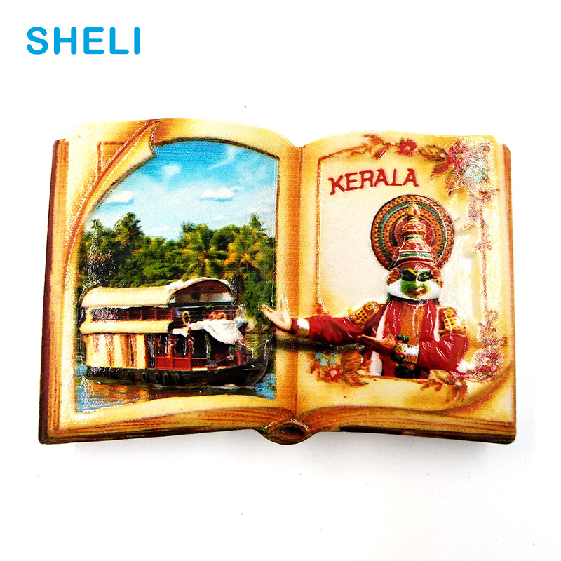 India Travel Souvenir Scenery Kerala 3D High-end Resin Fridge Magnets Gift Refrigerator Magnetic Sticker Home Decor Decoration