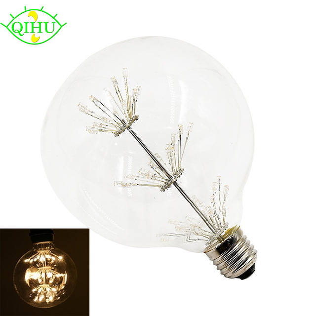 3w g125 g80 decorative led lamps warm white 2200k vintage christmas light bulbs e27 medium screw