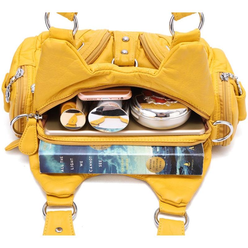 Handbags Shoulder Bag Fashion sac a main PU Leather Top handle Handbag Female Satchel Large Hobo Purses Han for Women 2019 in Shoulder Bags from Luggage Bags