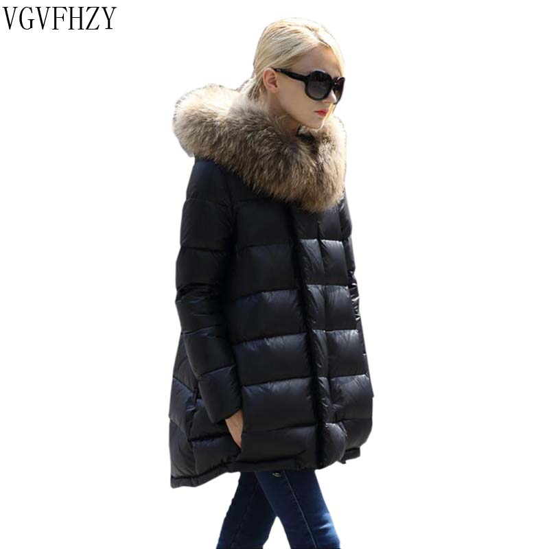 Winter jacket women 2018 new winter   coat   thickening warm female   down   jacket hooded Raccoon fur collar women's parkas   down     coats
