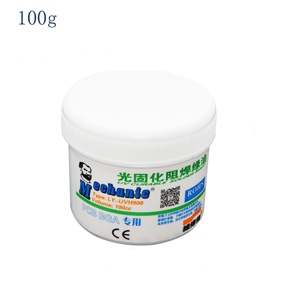 Free Shipping 100 Original Hk Mechanic 100g Green Solder Mask Uv For Circuit Boards Curable Pcb