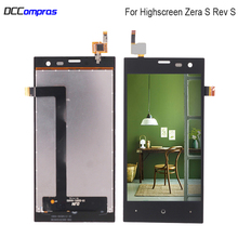For Highscreen Zera S (rev.S) LCD Display Touch Screen Digitizer Sensor For Highscreen Zera S Display Screen LCD Phone Parts стоимость