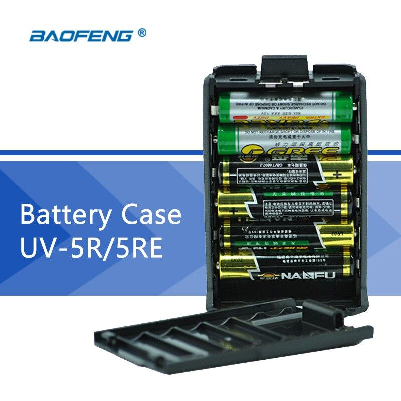 Walkie-Talkie UV-5R Battery Case For Portable CB Radio Baofeng UV 5R UV-5RA UV-5RE Backup Battery Case Walkie-Talkie Accessories