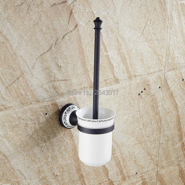 Wholesale Promotion Copper Black Toilet Brush Holder Archaize - Wholesale bathroom hardware