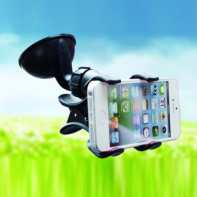 360 Degree Rotation Car Windshield Mount Holder Suction Cup Stand Soporte Movil Car Porta Celular for iPhone 6 6s 7 8 Plus X